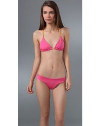 Basta Surf | Pink Raglan Triangle Bikini with Reversible Top | Lyst