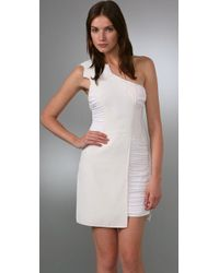 BCBGMAXAZRIA - White Bcbgmaxazria Runway One Shoulder Dress - Lyst
