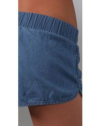 Bec & Bridge | Blue Escape Shorts | Lyst
