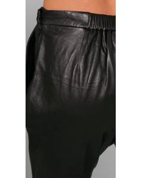 By Malene Birger - Black Chicoree Leather Harem Pants - Lyst