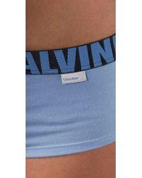 Calvin Klein - Blue X Cotton Cheeky Shorts - Lyst