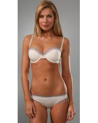 Calvin Klein - White Perfectly Fit Flirty Strapless Push Up Bra - Lyst