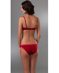 Calvin Klein - Red Perfectly Fit Flirty Bouquet T Shirt Bra - Lyst