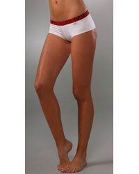 Calvin Klein | White X Micro Cheeky Shorts | Lyst