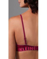 Calvin Klein - Red X Micro Push Up Bra - Lyst