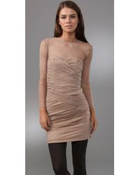 Camilla & Marc - Natural Orion Paneled Ponte Dress - Lyst