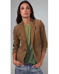 Current/Elliott - Natural The Patch Corduroy Blazer - Lyst