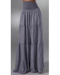 Current/Elliott | Blue Harbour Long Skirt | Lyst