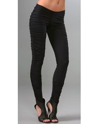 David Lerner | Black Ruched Leggings | Lyst