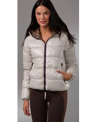 Duvetica   White Thia Hooded Jacket   Lyst