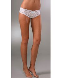 Eberjey | White India Lace Low Rise Boy Thong | Lyst