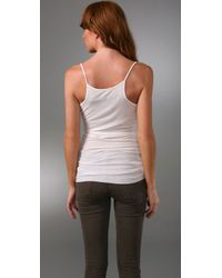 Enza Costa - White Ribbed Skinny Tank - Lyst