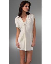 Ever - Natural Cheyenne Silk Mini Dress - Lyst