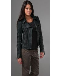 Ever | Green Langdale Leather Motorcycle Jacket | Lyst