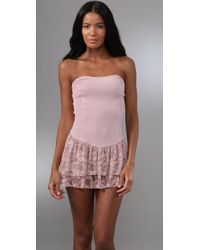 Free People | Pink Party Girl Ruffle Slip | Lyst