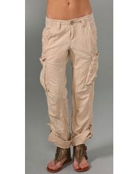 Free People | Natural Cargo Pants | Lyst