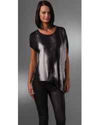 Helmut Lang | Metallic Shadow Print Top | Lyst