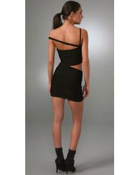 Hervé Léger | Black Vivien Cutout Bandage Dress | Lyst