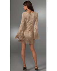 Inca - Natural Peacock Fairy Cover Up Dress - Lyst