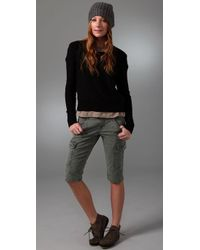 J Brand | Green Cotton Houlihan Shorts | Lyst