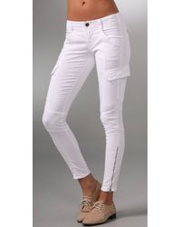 J Brand | White Houlihan Skinny Cargo Pants | Lyst