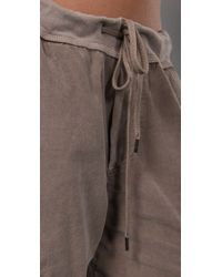 James Perse - Gray Drawstring Cargo Pants - Lyst