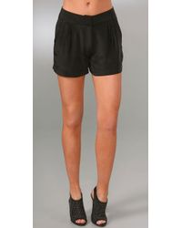 Jenni Kayne | Black Multi Pleated Shorts | Lyst