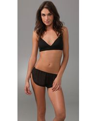 La Fee Verte - Black Silk Chiffon Shorts - Lyst