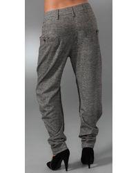 L.A.M.B. - Gray Tweed Harem Pants - Lyst