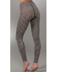 M Missoni - Black Striped Leggings - Lyst
