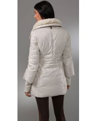 Mackage - White Magda Fur Puffer Coat - Lyst