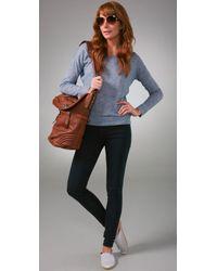 Madewell - Blue Back Zip Legging Jeans - Lyst
