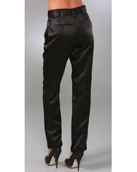 Marc By Marc Jacobs - Black Viola Satin Pants - Lyst