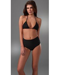 Mikoh Swimwear | Black Sumatra Banded Triangle Top | Lyst