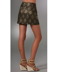 MILLY | Black Classic Miniskirt | Lyst