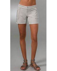 Monrow | Natural French Terry Shorts | Lyst