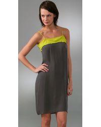 Nili Lotan | Yellow Fabian Dress | Lyst