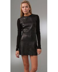 Pencey - Black Leather Dress - Lyst