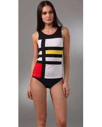 Pret-a-surf | Multicolor Graphic Rash Guard Tank | Lyst