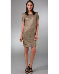 Rachel Roy - Metallic Crochet Dress - Lyst