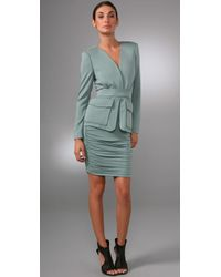 Rachel Roy | Green V Neck Jacket Dress | Lyst