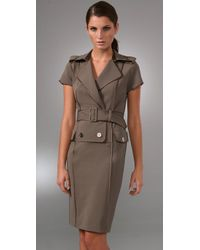 Rachel Roy - Natural Sculpted Trench Dress - Lyst