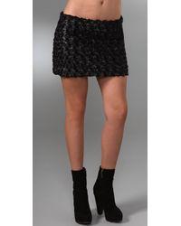 Rebecca Minkoff | Black Lola Miniskirt | Lyst