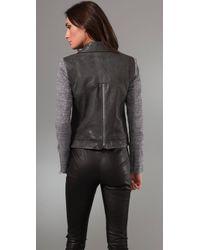 Rebecca Minkoff - Gray Lindbergh Leather Jacket - Lyst