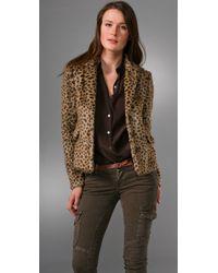 Rebecca Taylor | Brown Faux Fur Blazer | Lyst