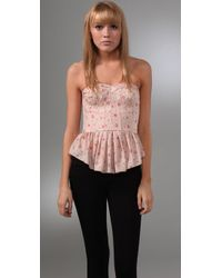 Rebecca Taylor | Pink Quilted Silk Corset | Lyst