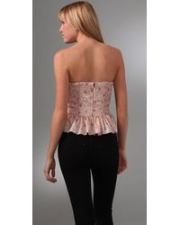 Rebecca Taylor - Pink Quilted Silk Corset - Lyst