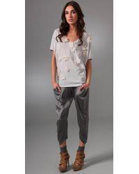 Rich & Skinny - Gray Silk Harem Trousers - Lyst