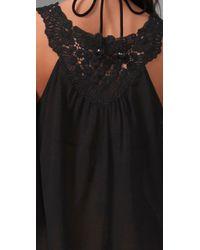 Shoshanna - Black Lace Tank Dress Cover Up - Lyst
