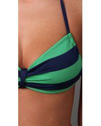 Splendid   Green Marcell Stripe Sweetheart Bikini Top   Lyst